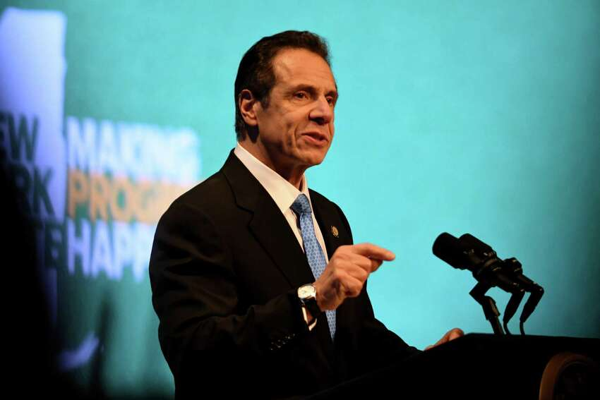 Gov. Andrew Cuomo delivers his 2020 State of the State Address on Wednesday, Jan. 8, 2020, at Empire State Plaza Convention Center in Albany, N.Y. (Will Waldron/Times Union)