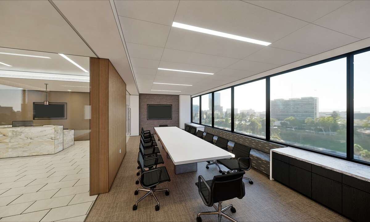 Conference rooms at Read King's new headquarters at 1900 W. Loop South are situated along the windows. Kirksey Architecture designed the new offices for the commercial real estate firm.