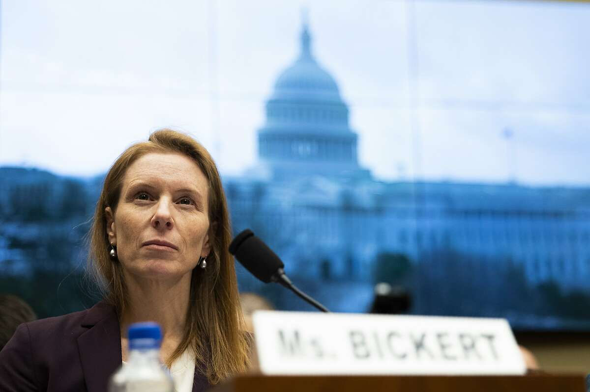 Facebook Head of Product Policy and Counterterrorism Monika Bickert, testifies before a House Consumer Protection and Commerce Subcommittee hearing on 'Americans at Risk: Manipulation and Deception in the Digital Age' Wednesday, Jan. 8, 2020, on Capitol Hill in Washington. (AP Photo/Manuel Balce Ceneta)