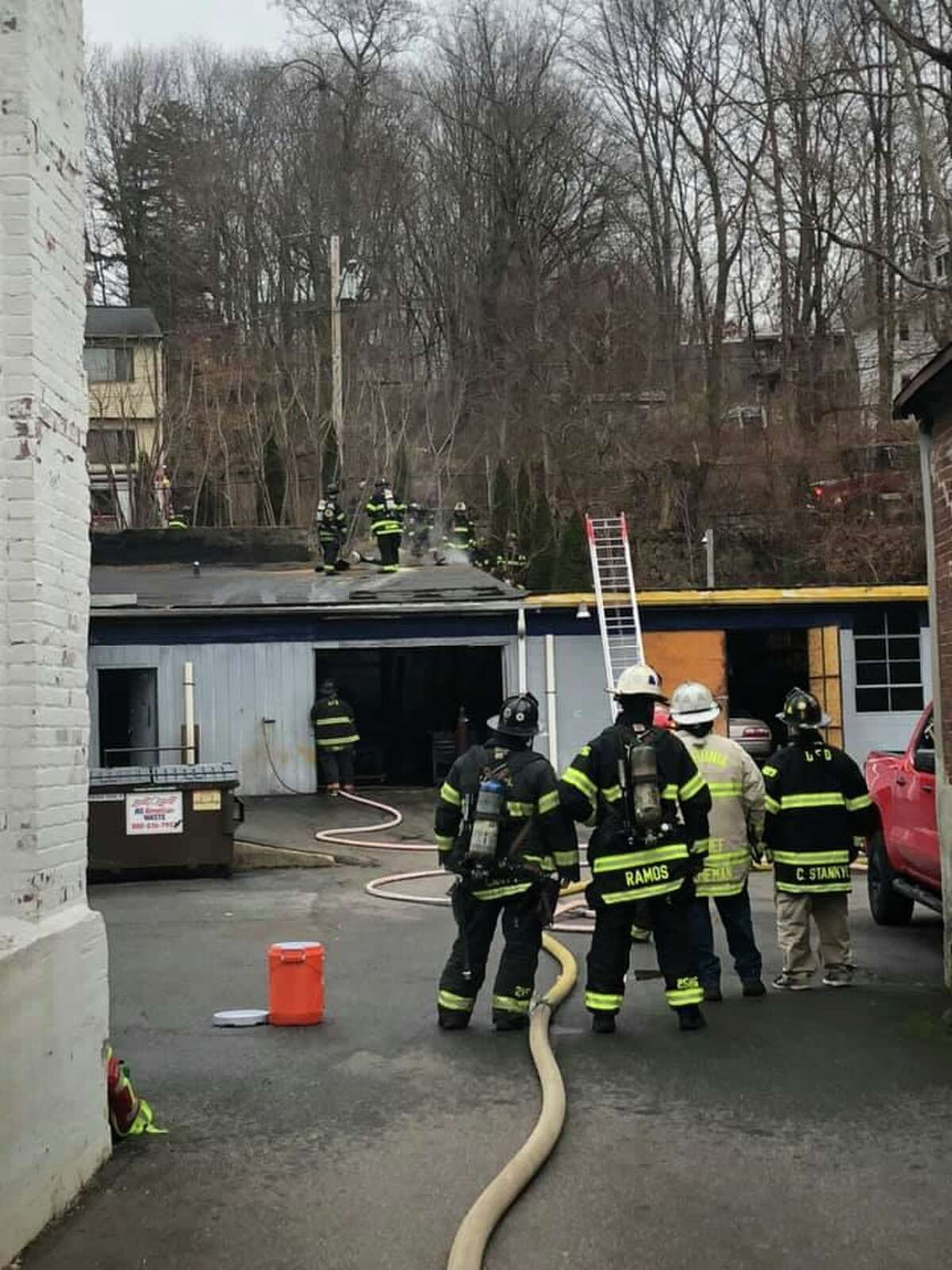 Ansonia firefighters quickly extinguished a commercial building fire Tuesday afternoon.