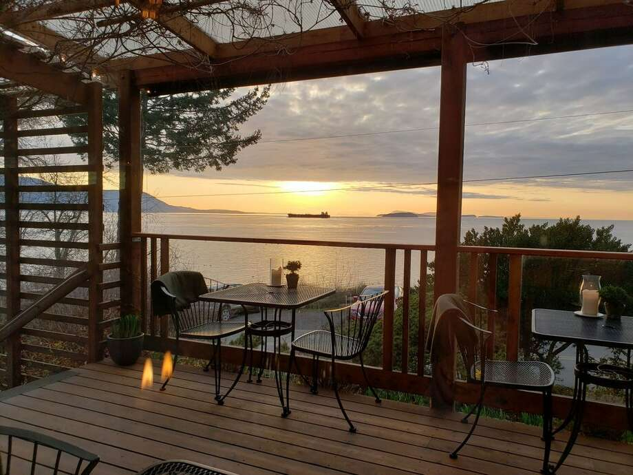 Willows Inn on Lummi Island is located on the west (sunset) side of Lummi Island with wondrous views of the San Juan and Gulf Islands. Photo: David D/Yelp