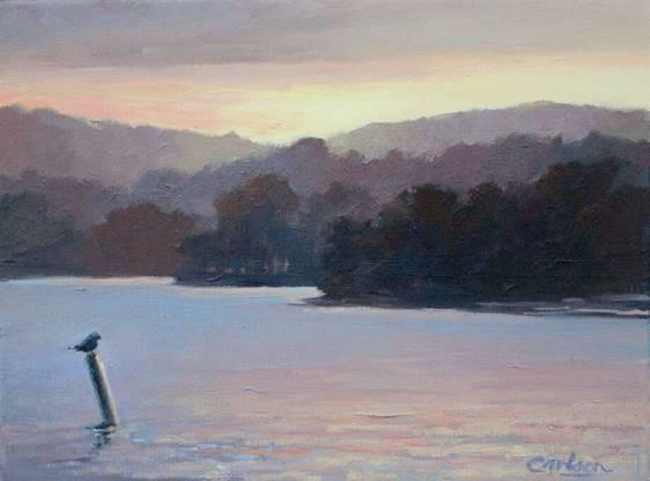 """The Sherman Library is hosting """"Water and Sky,"""" a new show of oil paintings by Beth Carlson, Jan. 10-Feb. 19. Pictured is """"Perched, Warren,"""" a 9 x12, oil on canvas. Photo: Sherman Library / Contributed Photo"""