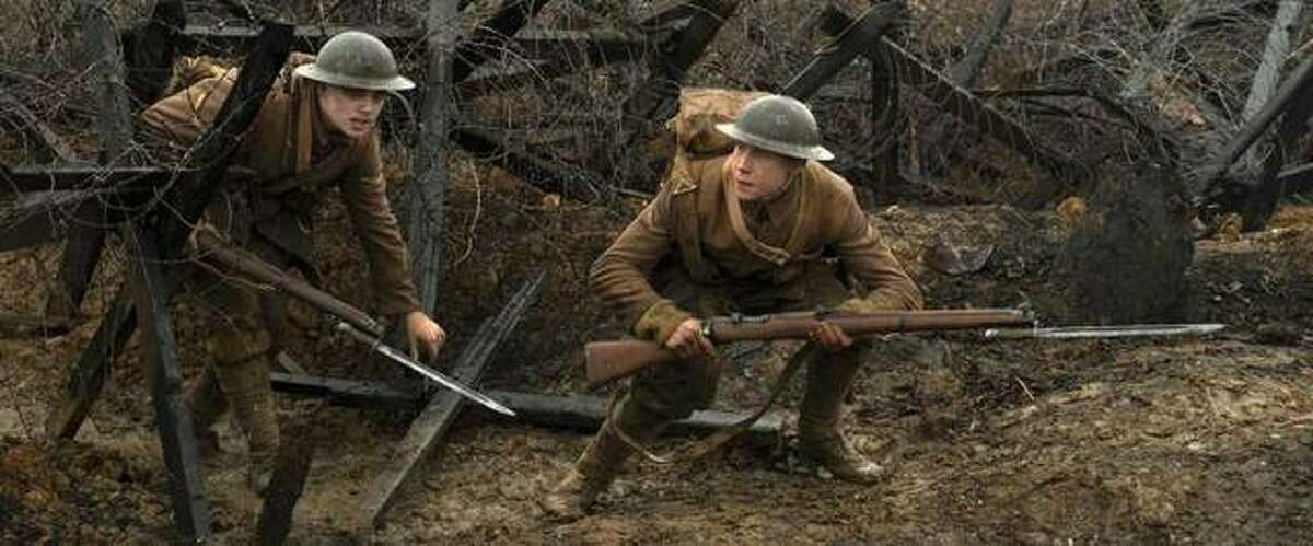 Dean-Charles Chapman, left, and George MacKay in a scene from