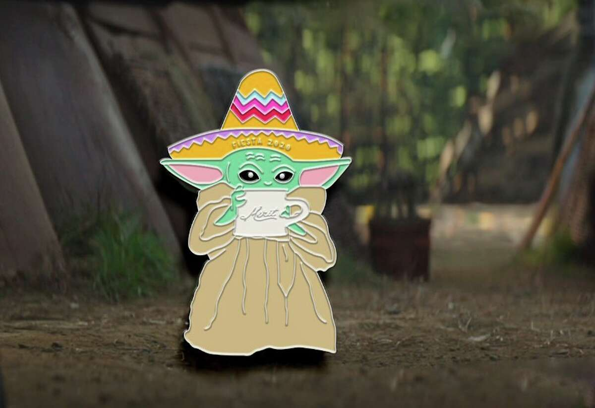 """For all you """"The Mandalorian"""" fans, there is a sombrero-wearing, coffee-sipping Baby Yoda Fiesta medal available for purchase this year. Money raised from the purchases benefit Snack Pak 4 Kids, a non-profit organization works to provide weekend food supplements for local children who are chronically hungry."""