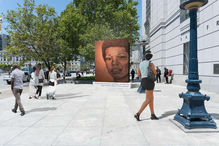 Lava Thomas' proposed public monument to Maya Angelou was accepted, then rejected under pressure, by a committee of the San Francisco Arts Commission. This month, the commission will release a new request for proposals to honor the late author. Photo: Lava Thomas