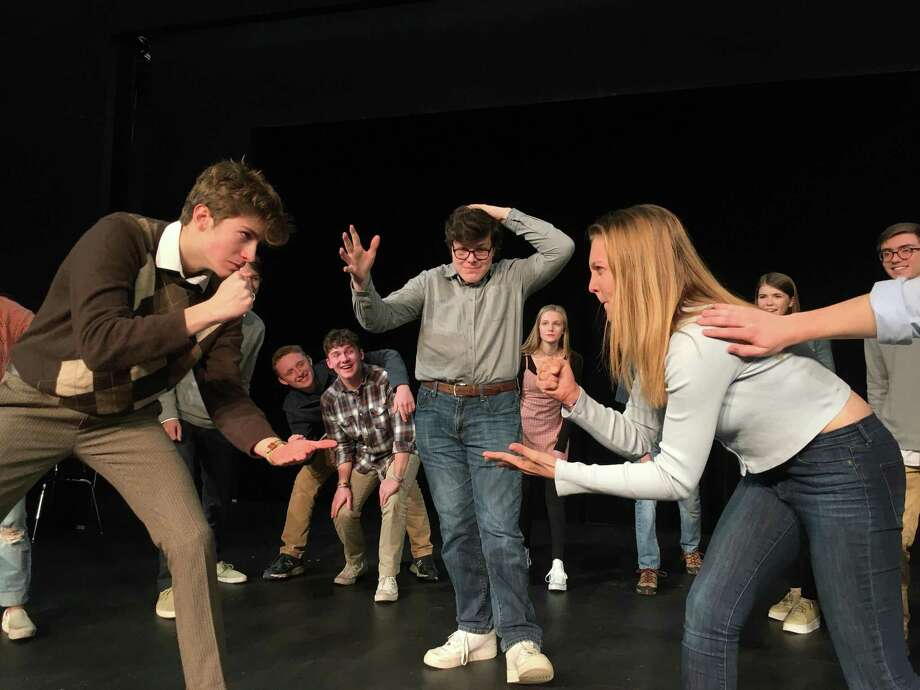 Freeplay, presented Jan. 17-18, 2020, in Wilton High School's Little Theater, will feature students Brennen Smith, Devin Moran, and Peyton Matik. Photo: Contributed Photo / Wilton High School / Wilton Bulletin Contributed
