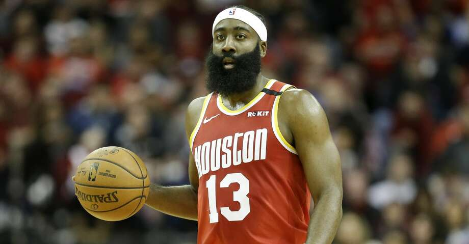 Houston Rockets guard James Harden dribbles during the first half of an NBA basketball game against the Philadelphia 76ers, Friday, Jan. 3, 2020, in Houston. (AP Photo/Eric Christian Smith) Photo: Eric Christian Smith/Associated Press
