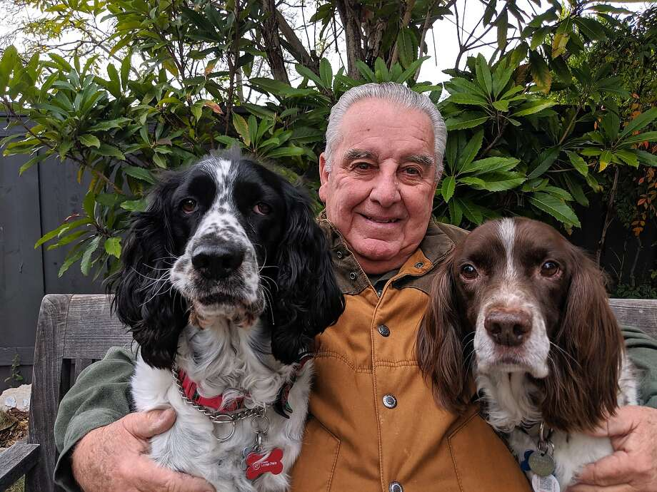Jim Brown, who opened San Diego's nine off-limits lakes to the public, is with Jack (left) and Gus. Photo: Julia Brown