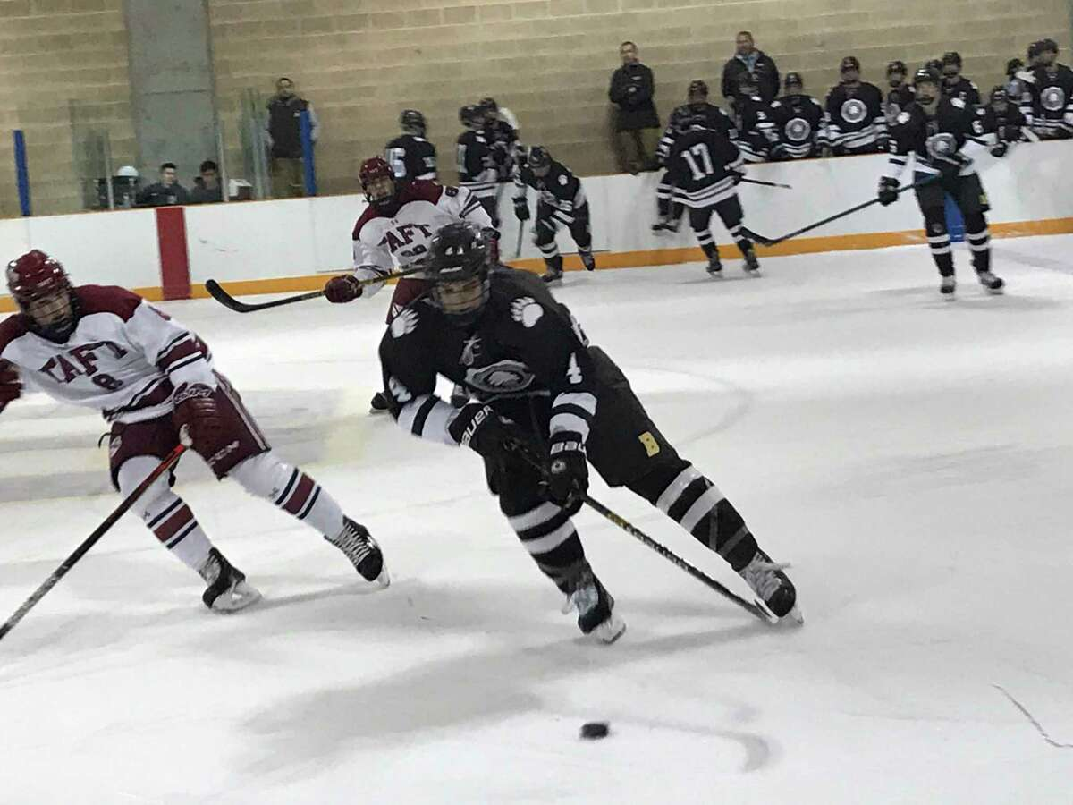 The Brunswick School ice hockey team improved to 11-3-1 with a 6-2 win over Taft School on Wednesday, January 8, 2020, in Greenwich.