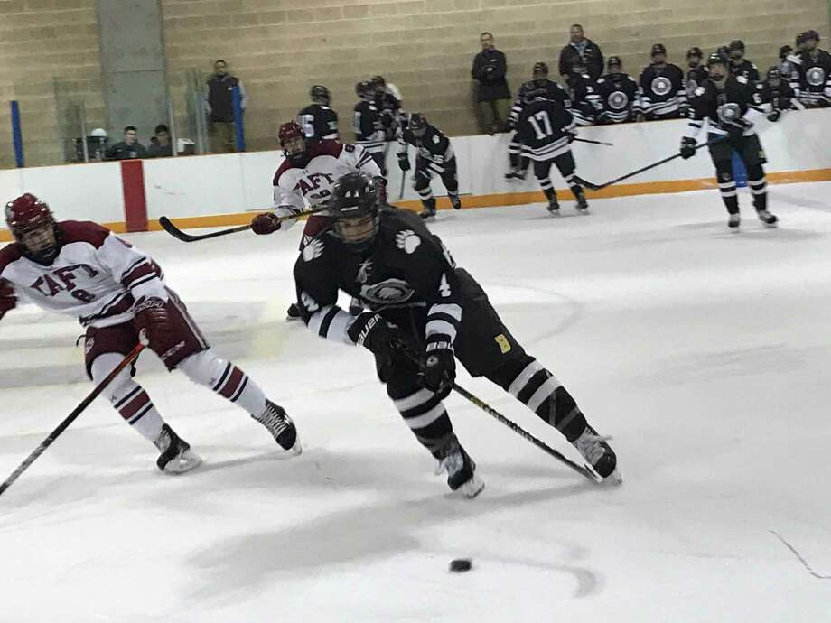 The Brunswick School ice hockey team improved to 11-3-1 with a 6-2 win over Taft School on Wednesday, January 8, 2020, in Greenwich. Photo: David Fierro /Greenwich Time