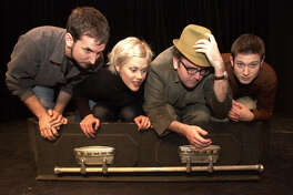 Local comedy groups get together for a 3 week festival at the Shelton Theater 533 Sutter St. SF. SHOWN: Totally False People (L to R): Gabriel Diani, Janet Varney, David Owen, Cole Stratton.