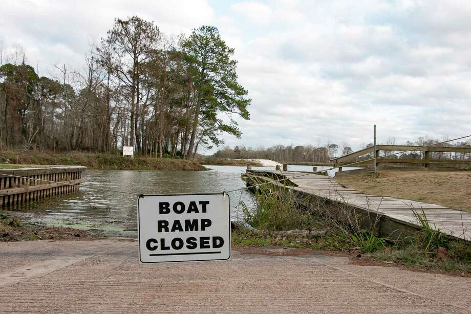 The Kingwood Service Association has applied for a permit with the City of Houston to dredge an area of River Grove Park where sand was deposited during Hurricane Harvey. The dredging will be from the left of the boat ramp, around the pier, and down to the right to the end of the boardwalk to help with boat entry. Photo: Savannah Mehrtens/Staff Photo / Savannah Mehrtens/Staff Photo
