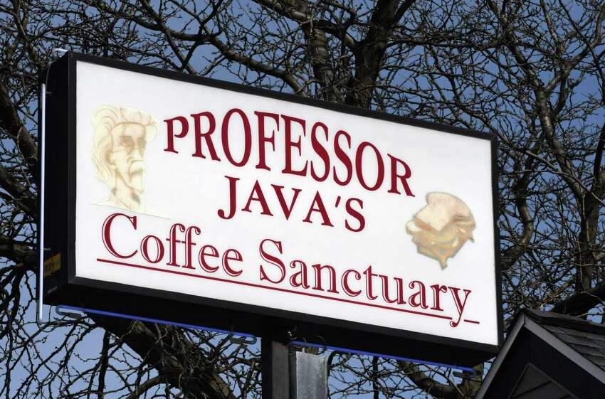 Exterior sign at Professor Java's Coffee Sanctuary on Wednesday, March 27, 2019, on Wolf Road in Colonie, N.Y. (Will Waldron/Times Union)