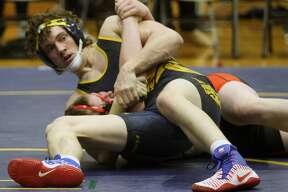 The Bad Axe wrestling team picked up a victory over Sandusky before dropping a matchup against Marlette at home on Wednesday, Jan. 8.