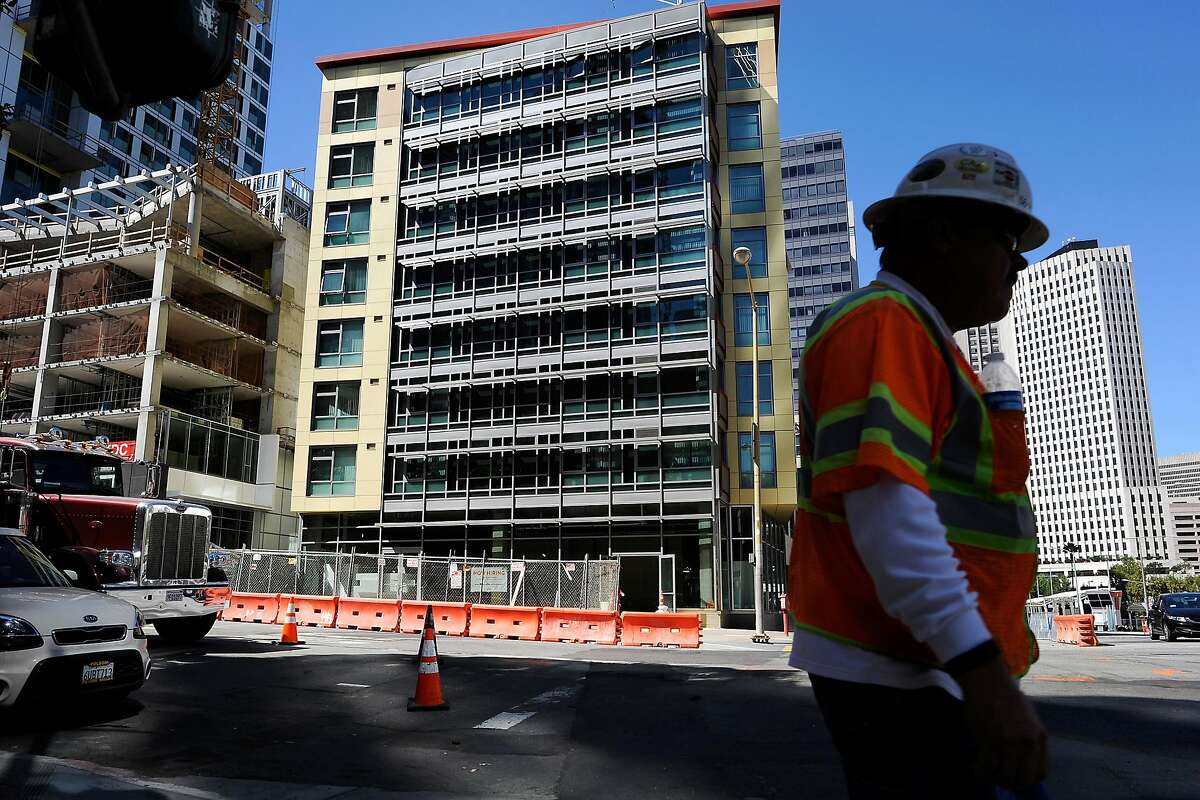 Construction continues on the buildings around the newly built 280 Beale Street Family Community, operated by Mercy Housing California, in San Francisco, CA Wednesday, September 23, 2015.