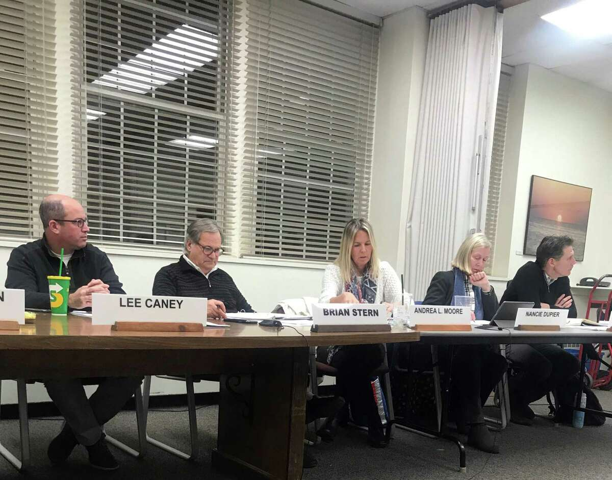 The Board of Finance on Wednesday. Taken Jan. 8, 2020 in Westport, Conn.
