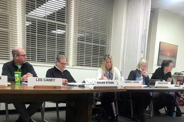 The Board of Finance on Wednesday. Taken Jan. 8, 2020 in Westport, Conn.