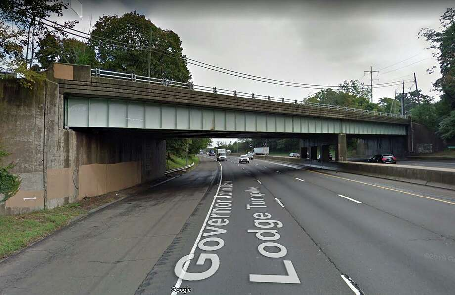 "The state Department of Transportation has announced the start of a construction project to replace the Beachside Avenue bridge over I-95. DOT said work on the $7.3 million project will begin ""on or about Jan. 23."" Construction of the new bridge will require a more than three-mile detour onto local roads. The detour is tentatively scheduled to begin on March 1, 2021, and ending on or before Oct. 10, 2021. Photo: Google Street View"