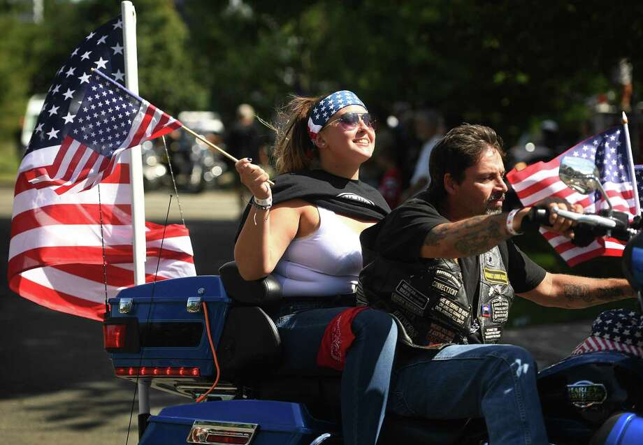 Two thousand motorcycles caravan from Norden Place in Norwalk to Seaside Park in Bridgeport during the annual CT United Ride, Connecticut's largest 9/11 tribute, on Sunday, September 8, 2019. Photo: Brian Pounds / Hearst Connecticut Media / Connecticut Post
