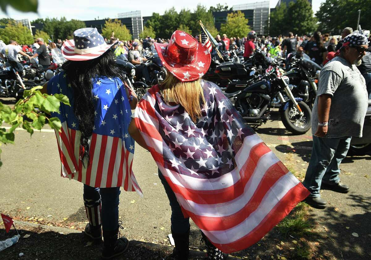 Red,white, and blue were the colors of choice for the annual CT United Ride, Connecticut's largest 9/11 tribute, in Norwalk, Conn. on Sunday, September 8, 2019. According to Garrity, he had planned a series of safeguards including dispersing the toilet facilities and adding portable speakers so riders wouldn't gather near the podium. Ultimately though, the anticipated gathering was simply too large. The idea of an alternate starting point was briefly considered, then dropped, he said.
