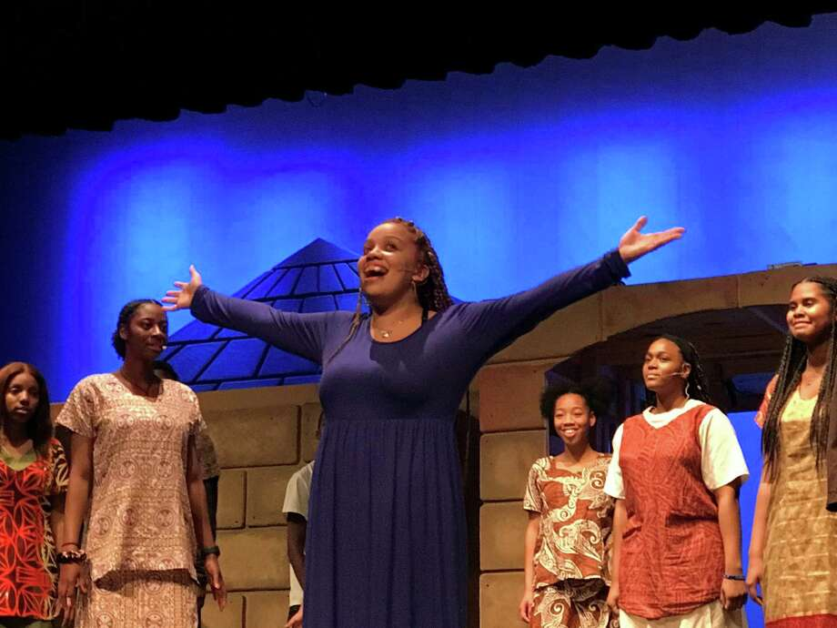 "Tommy Tunes award nominee Makaila Heath portrays Aida in The Lion Players Theatre Company ""Aida"" by Elton John and Tim Rice, opening at Spring High School on Jan. 16, 2020. Photo: Courtesy Of Spring High School Theater Department / Submitted"