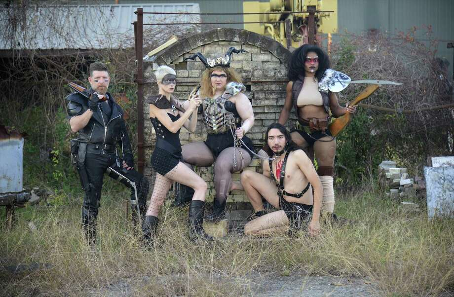 Southeast Texans model their costumes for the Beaux Arts Ball's Winter Wonder Wasteland theme. Photo: John Fulbright