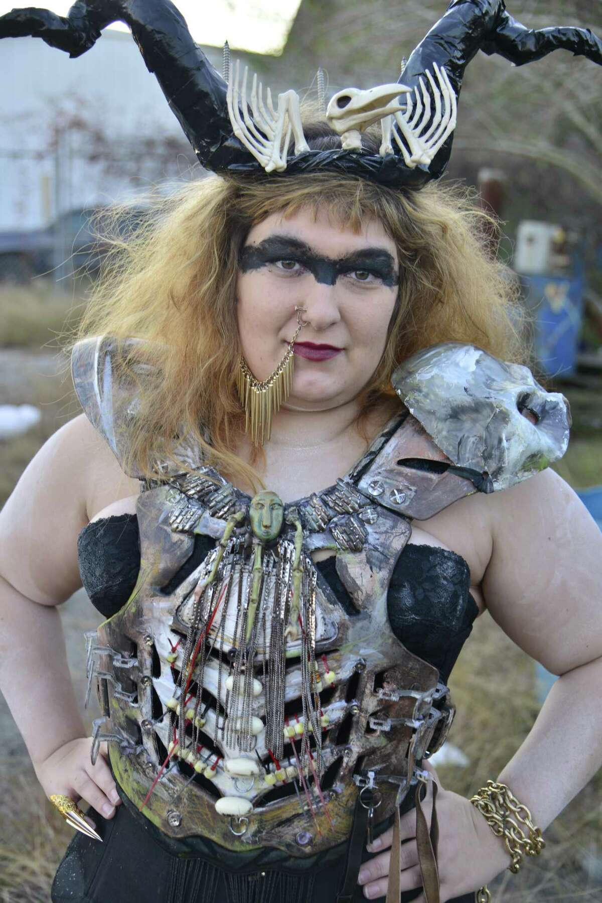 Southeast Texans model their costumes for the Beaux Arts Ball's Winter Wonder Wasteland theme.