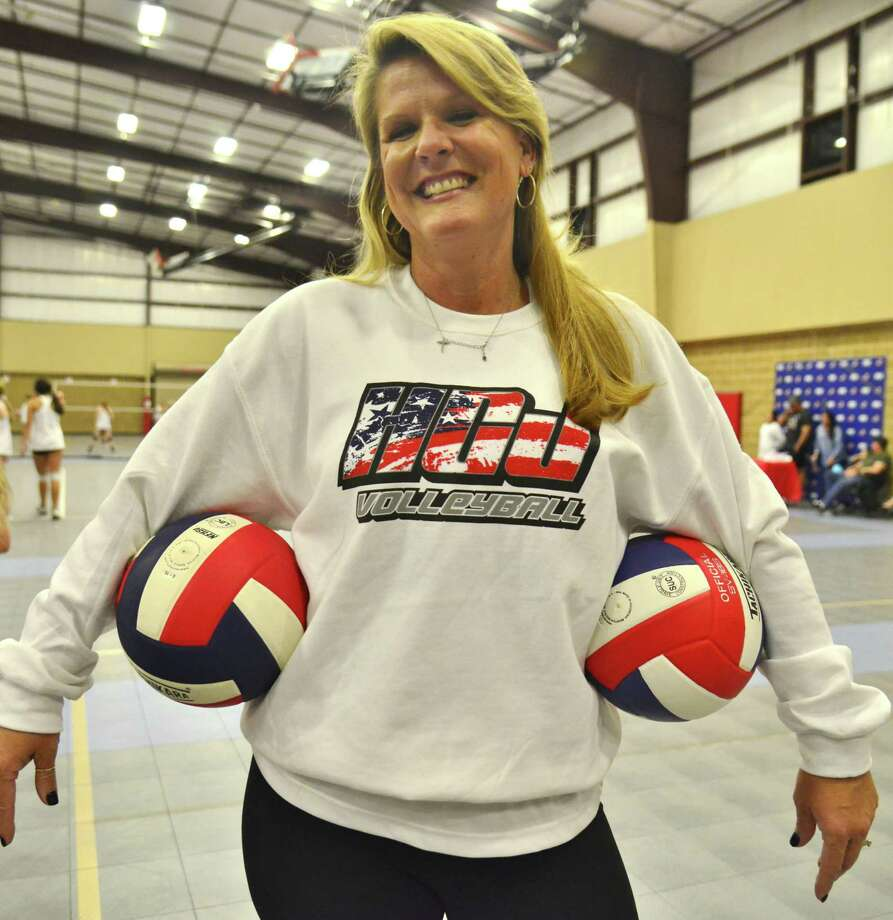 As director for Hardin County Juniors Vollegball, Shawn Shackleford has developed a safe culture to teach young women skills and systems that will help them get ahead in life. Photo: John Fulbright