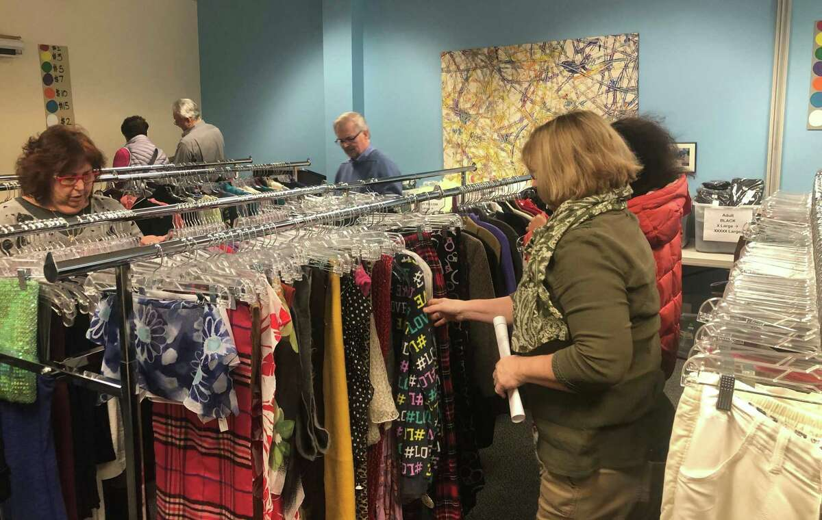 Shoppers peruse the racks at The Kennedy Center's Pop-up Shop in November.