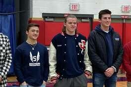 Caleb Tondora, Nick Costantini, Nolan Bannon, Maxwell Tavitian and Michael Simonelli were honored, along with Jordan Macdonald, as Foran athletes making All-State.