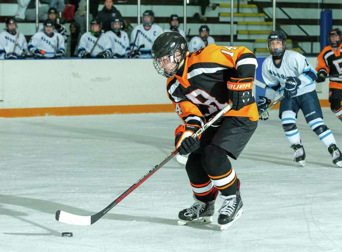 Aubrey White and the Ridgefield girls hockey team are 3-5 at the midpoint of the regular season.