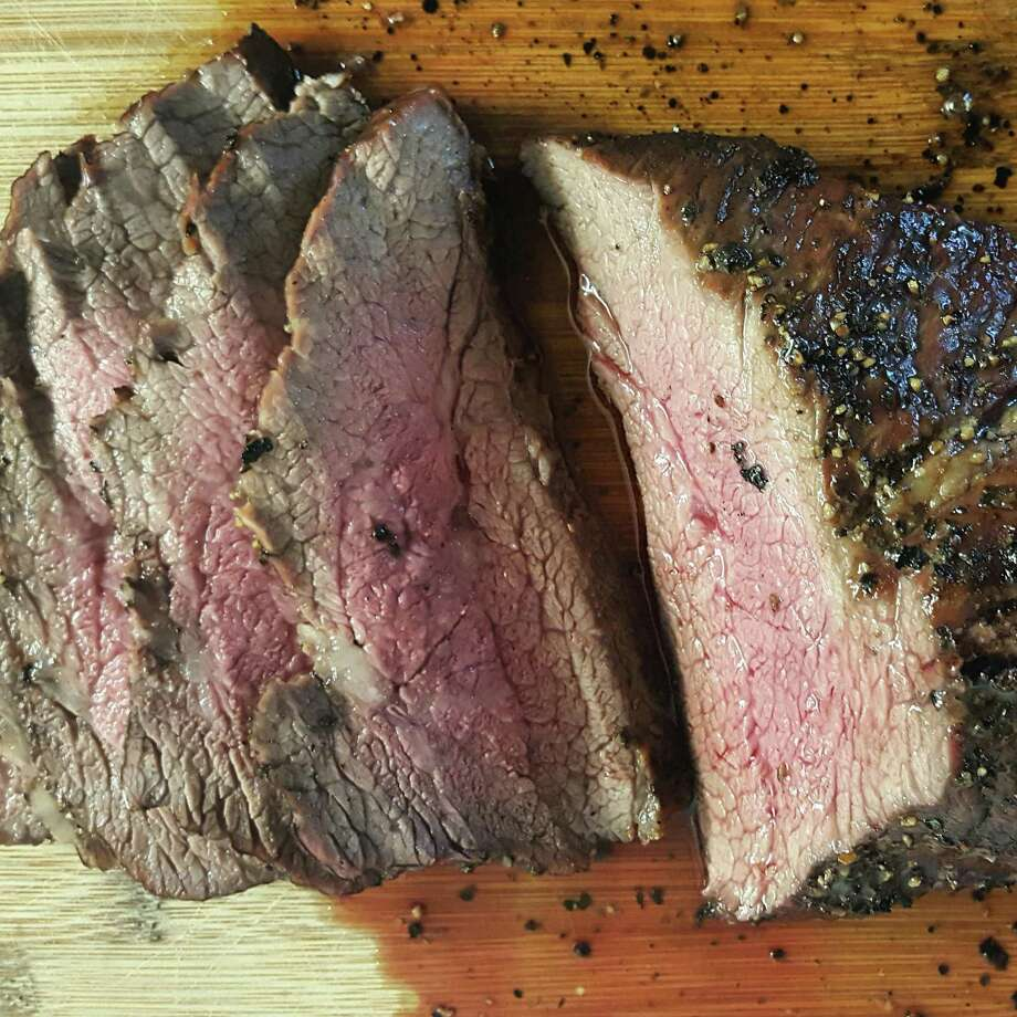 Slices of finished tri-tip beef from Bandit BBQ Photo: Bandit BBQ
