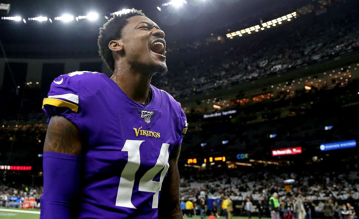 Stefon Diggs #14 of the Minnesota Vikings warms up before the NFC Wild Card Playoff game against the New Orleans Saints at Mercedes Benz Superdome on January 05, 2020 in New Orleans, Louisiana.