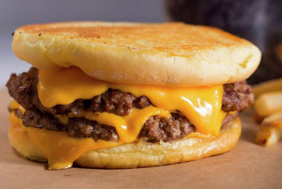 Wayback Burgers, a Connecticut-based chain with more than 150 locations worldwide, is planning two locations in the San Antonio area. The menu includes the Cheeeesy Burger with double meat and four slices of American cheese on an inverted, butter-toasted bun. Photo: Wayback Burgers