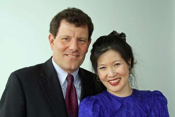 Pulitzer Prize winners Nicholas Kristof and Sheryl WuDunn.