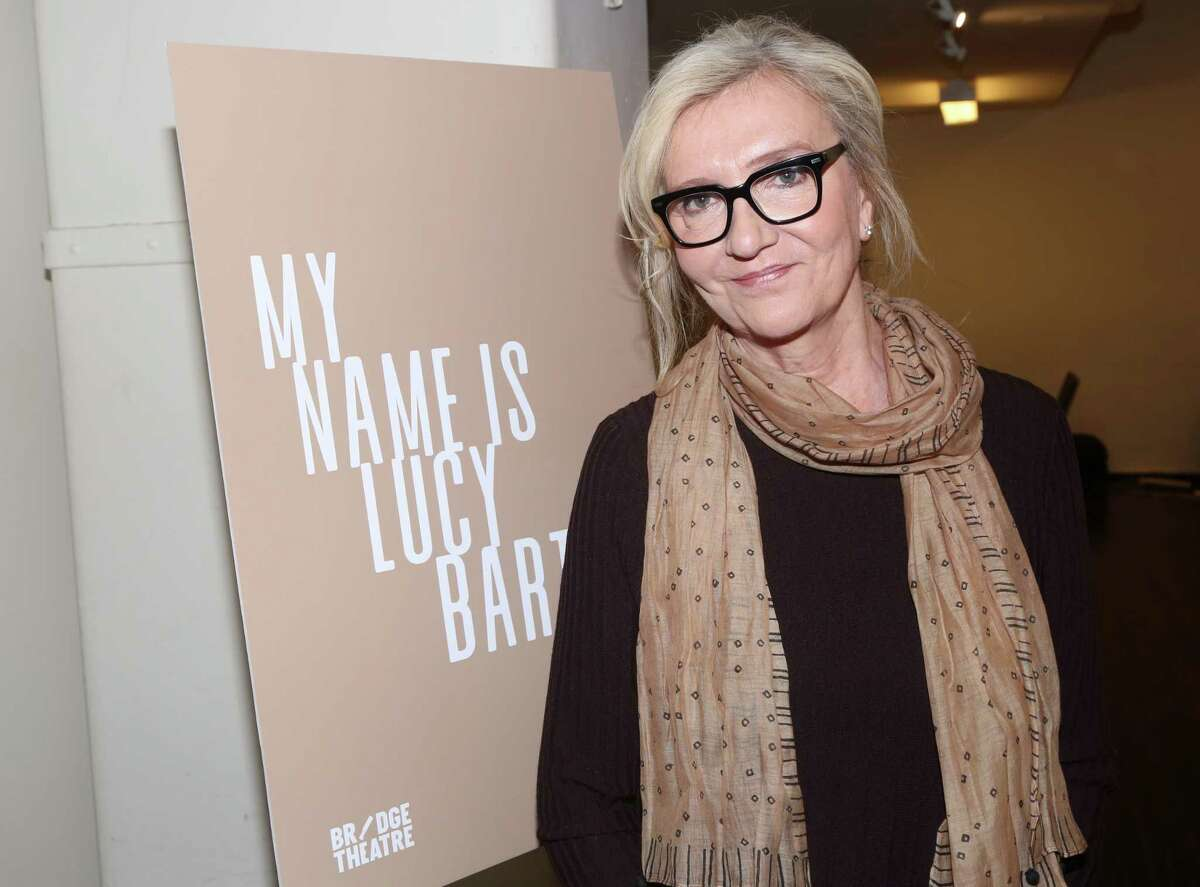 """Playwright Elizabeth Strout poses at a photo call for the upcoming play """"My Name Is Lucy Barton"""" on Broadway at The Manhattan Theatre Club Rehearsal Studios on Dec. 12, 2019 in New York City. (Photo by Bruce Glikas/WireImage)"""