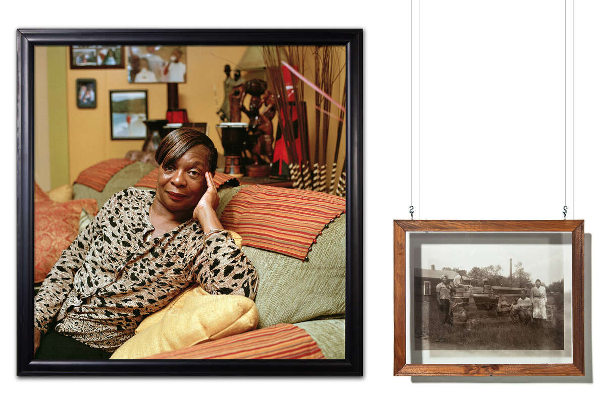 Daesha DevA3n-Harris, She Was Envisioning Her New Home, While Viewing the Recently Purchased Property, Henreitta Jackson, 2011. Chromira print from color negatie, transparency mounted on glass. Courtesy the artist