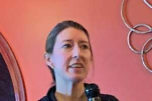 Sue Duval, owner of the Newtown-based The Organized Hive, gave decluttering tips to the Working Women's Forum at the Villa Restaurant in Newtown Wednesday night.