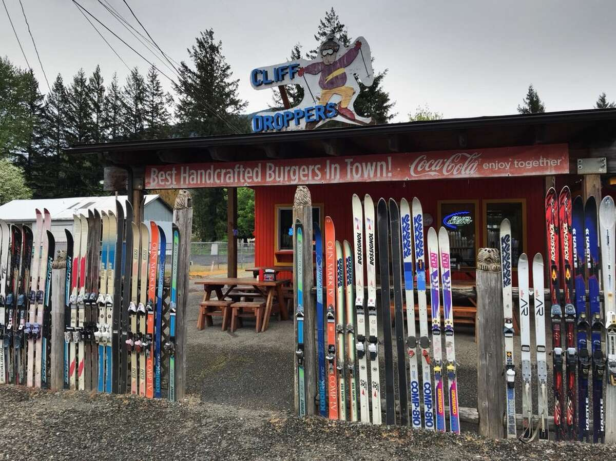 Along Highway 12, snag a burger, some tots and a cold Rainier from Cliff Droppers to polish off a full day of powder at this humble ski-surrounded joint near White Pass. Keep clicking for the other spots to stop on your way out to the slopes.