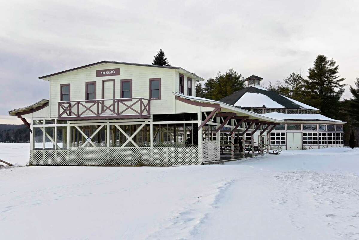 Buildings on the grounds of the former Sherman's Amusement Park on Thursday, Jan. 9, 2020 in Caroga Lake, N.Y. The Caroga Lake Arts Collective now owns the park and plans to restore the Ferris wheel and use other parts of the park for performances. (Lori Van Buren/Times Union)