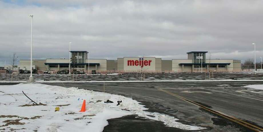 The nearly complete Meijer superstore in Colfax Township. Meijer is now hiring for positions at the store. (Robert Creenan/Huron Daily Tribune)