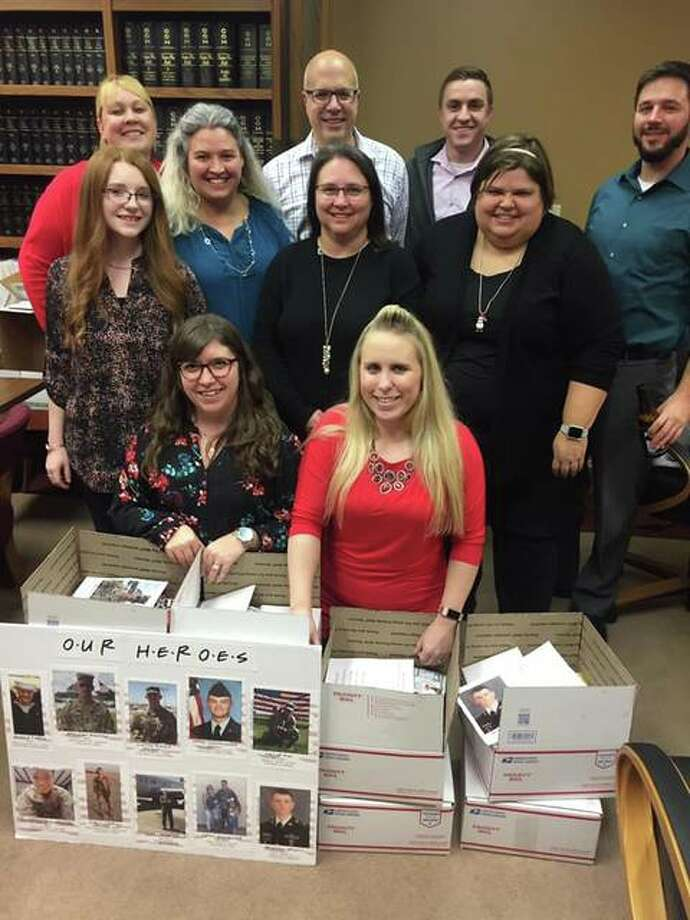 Employees of Scheffel Boyle CPA prepared 34 care packages for military members serving in Iraq, Afghanistan, Italy, Jordan, Germany, Saudi Arabia and South Korea.