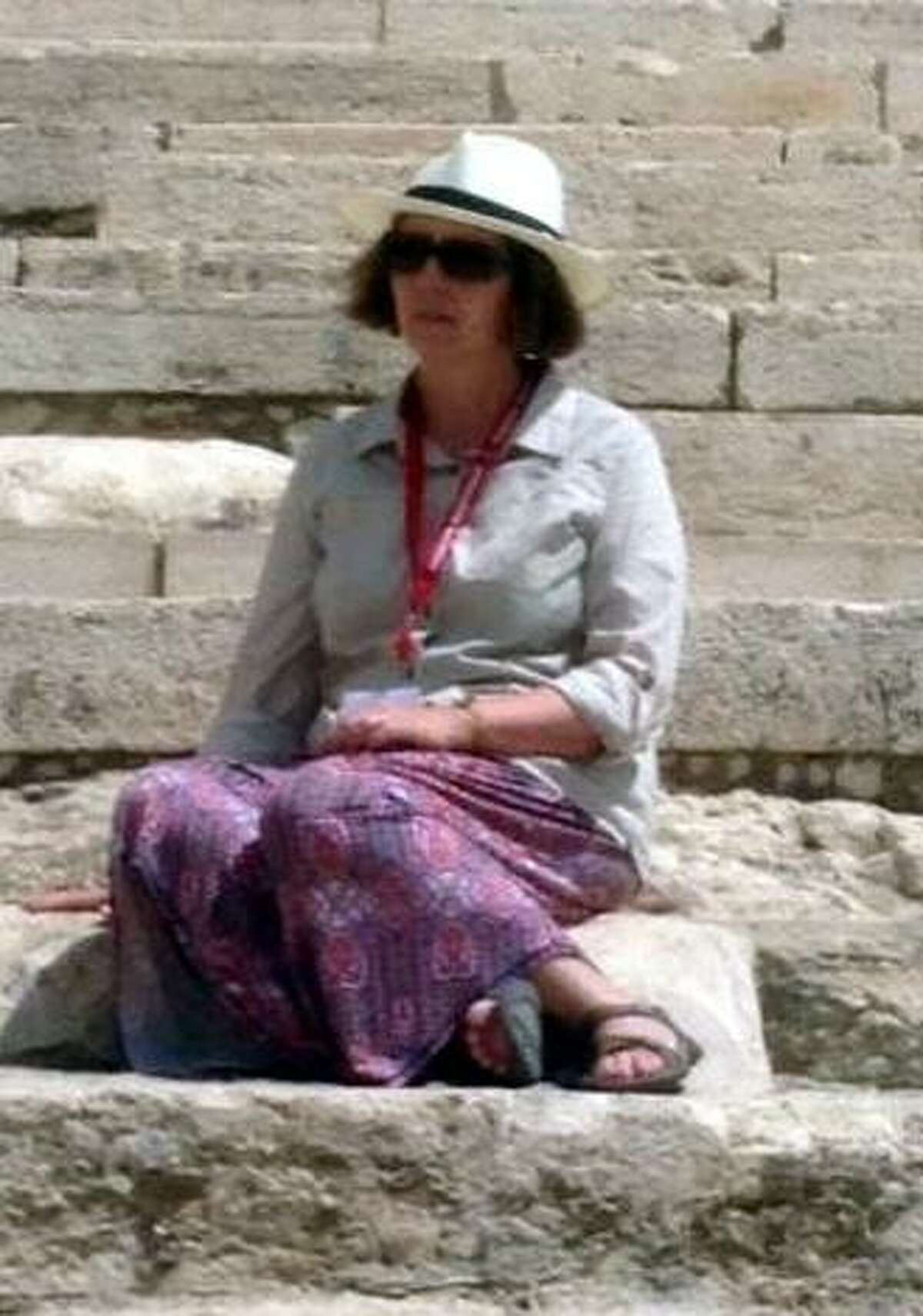 Regina Dowling, on a trip to the Holy Land.