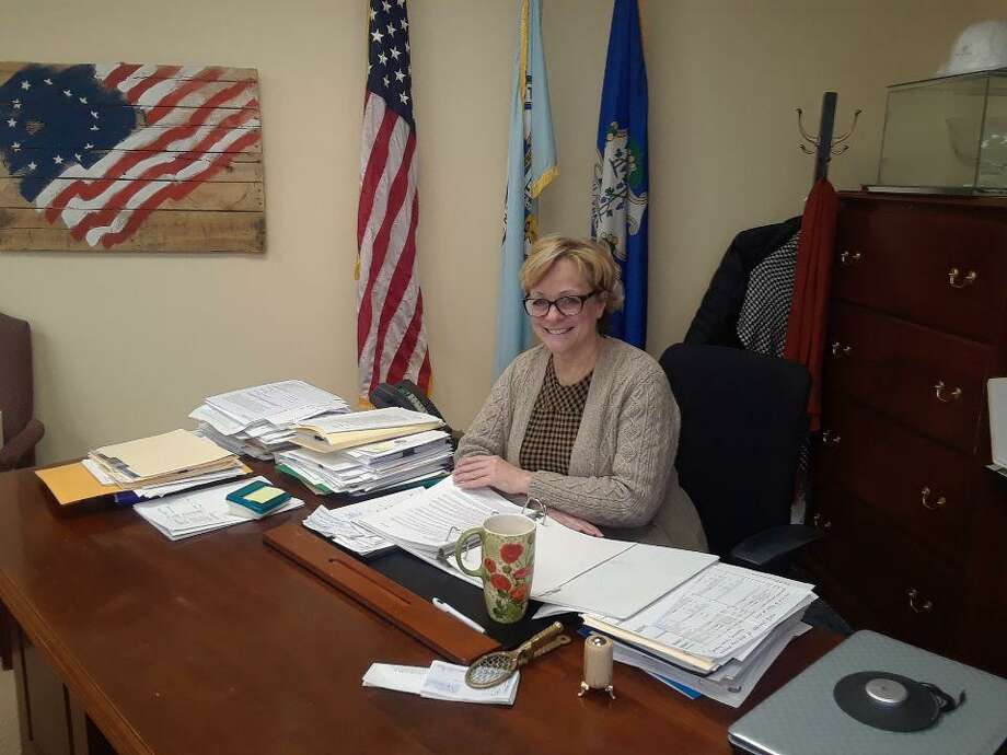 Mayor Elinor Carbone discusses her 2020 wish list for Torrington at her office in City Hall on Wednesday. Photo: Emily M. Olson / Hearst Connecticut Media
