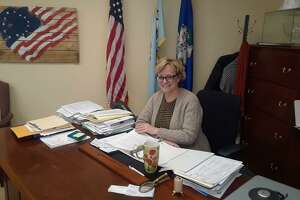 Mayor Elinor Carbone discusses her 2020 wish list for Torrington at her office in City Hall on Wednesday.