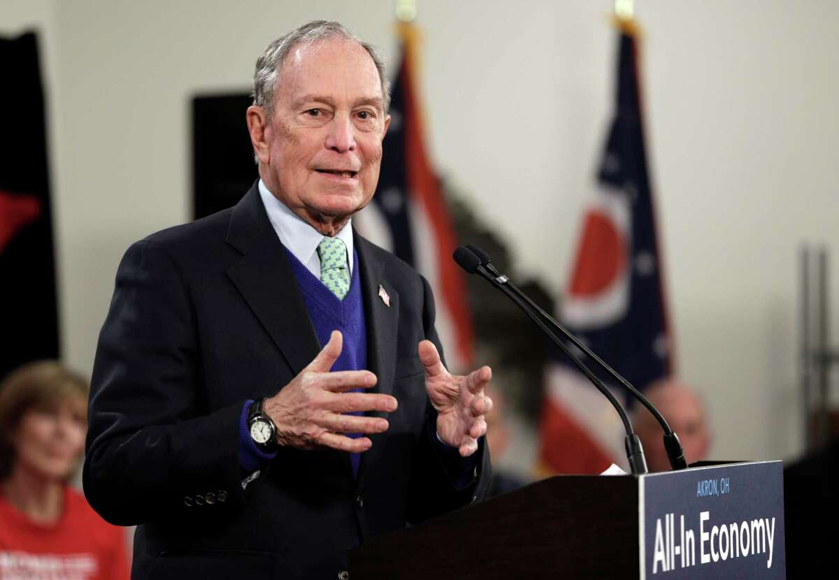 Democratic presidential candidate and former New York Mayor Michael Bloomberg speaks at the Bounce Innovation Hub, Wednesday, Jan. 8, 2020, in Akron, Ohio. (AP Photo/Tony Dejak)