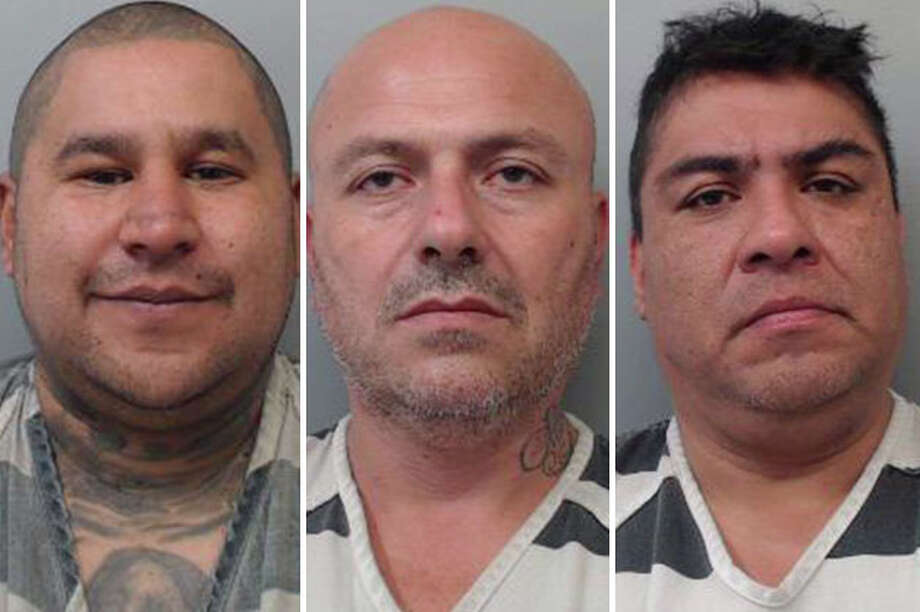 Three men were arrested for allegedly demanding money from a local business owner, according to police. Photo: Courtesy