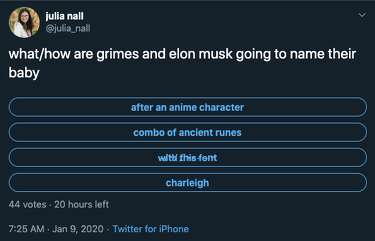 Teslo Twitter Is Having A Heyday Trying To Figure Out The Name Of Grimes And Elon Musk S Baby