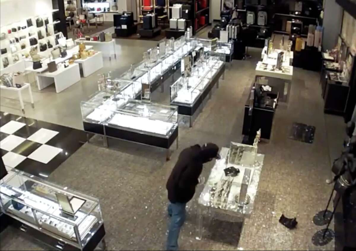 The Palo Alto Police Department is searching for a trio of burglars who allegedly stole $83,000 worth of merchandise from Bloomingdale's at Stanford Shopping Center in Palo Alto early Tuesday.