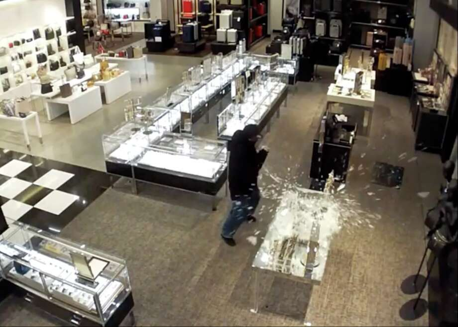 The Palo Alto Police Department is searching for a trio of burglars who allegedly stole $83,000 worth of merchandise from Bloomingdale's at Stanford Shopping Center in Palo Alto early Tuesday. Photo: Palo Alto Police Department